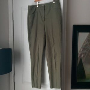 Olive green Chico's fabulously slimming size 2.